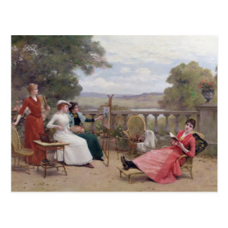 Painting on the Terrace Postcard