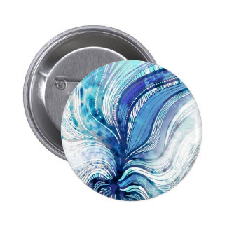 Painting on Watercolor Splatter Texture 2 Inch Round Button