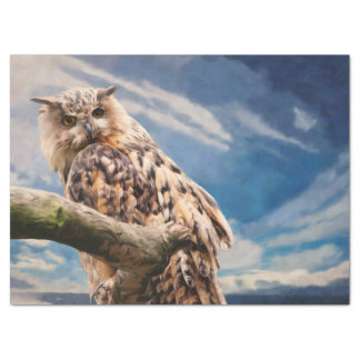 Painting Owl Tissue Paper