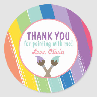 Painting Party Circle Stickers