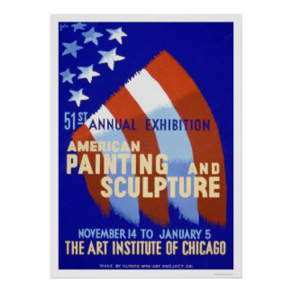 Painting & Sculpture 1937 WPA Poster