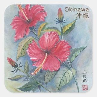 Painting Sticker Hibiscus, Okinawa, Japan