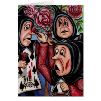PAINTING THE ROSES Alice in Wonderland Note Card