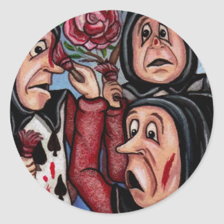 PAINTING THE ROSES Alice in Wonderland Sticker