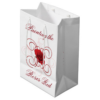 Painting the Roses Red 3 Medium Gift Bag