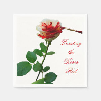 Painting the Roses Red 4 Paper Napkin