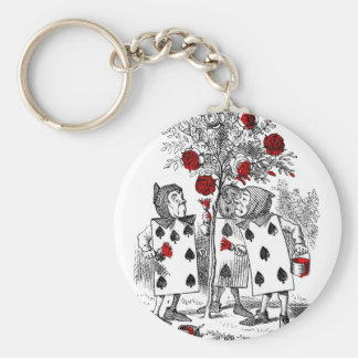 Painting the Roses Red Basic Round Button Keychain