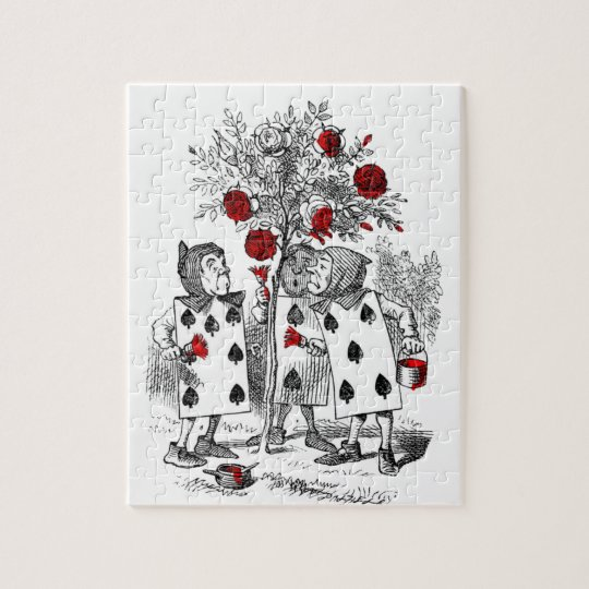 Painting the Roses Red Jigsaw Puzzle