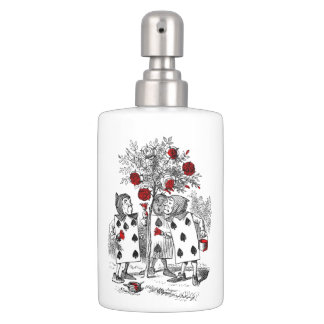Painting the Roses Red Soap Dispenser And Toothbrush Holder