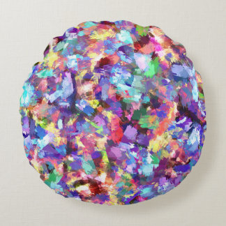 Painting With Color Round Pillow