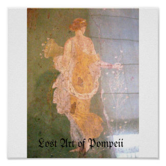 Paintings of Pompeii Italy, Lost Art of Pompeii Poster