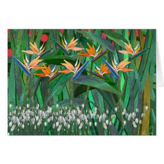 Paints a Jungle Flower Card