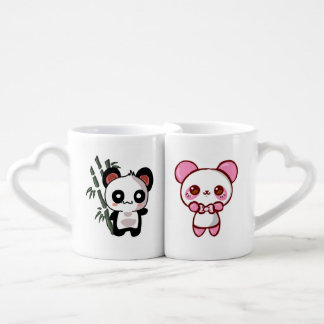 Pair Bulging Kawaii Coffee Mug Set