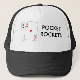 pair of aces1, POCKETROCKETS Trucker Hat