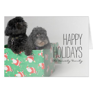 Pair of adorable puppies card