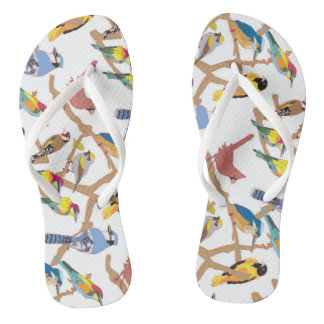 Pair of Birds Flip Flops