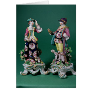 Pair of Bow figures of a Sportsman Greeting Card