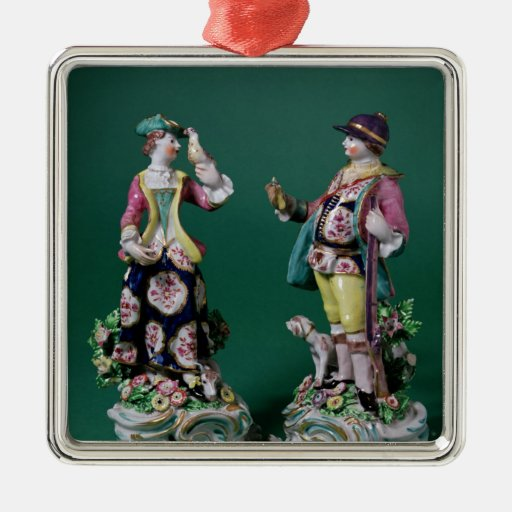 Pair of Bow figures of a Sportsman Ornaments
