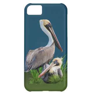 Pair of Brown Pelicans, Customizable iPhone 5C Cover