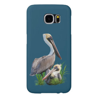 Pair of Brown Pelicans, Customizable Samsung Galaxy S6 Cases