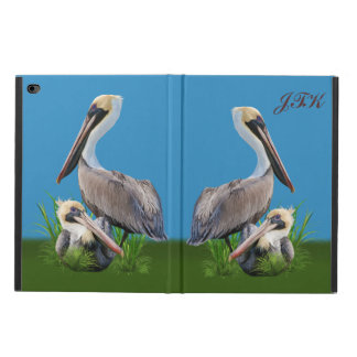 Pair of Brown Pelicans Customizable Text