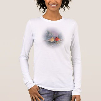 PAIR OF CARDINALS by SHARON SHARPE Long Sleeve T-Shirt