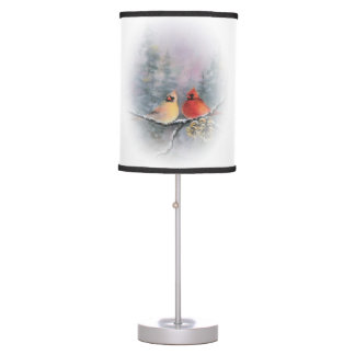 PAIR of CARDINALS  by SHARON SHARPE Table Lamp