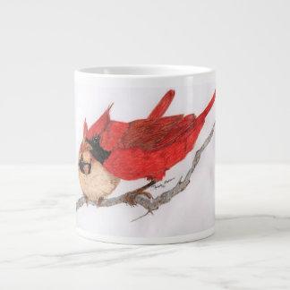 Pair of cardinals mug