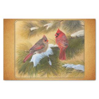Pair of cardinals tissue paper