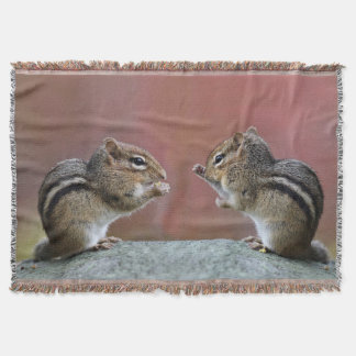 Pair of Chipmunks Throw Blanket