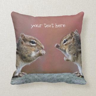 Pair of Chipmunks Throw Pillow