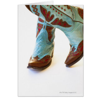 Pair of cowboy shoes 3 card