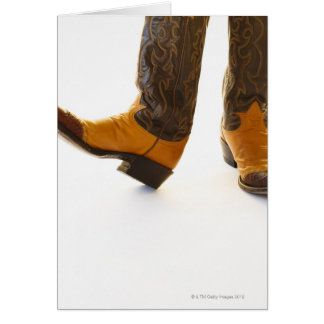 Pair of cowboy shoes card