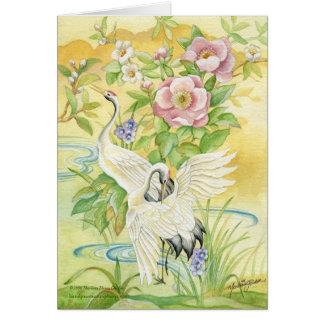 Pair of Cranes Blank Greeting Card