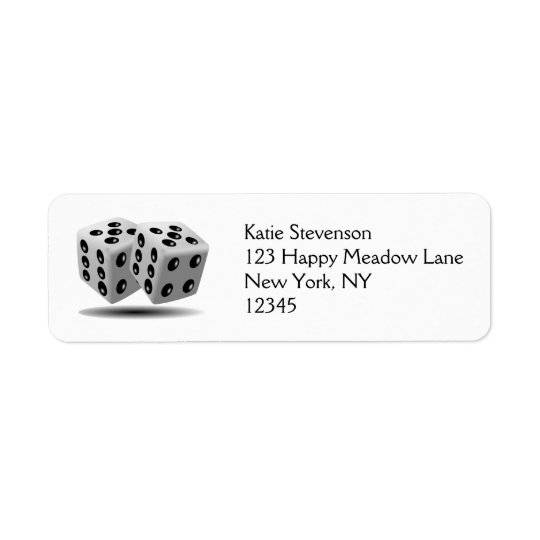 Pair of Dice Return Address Label