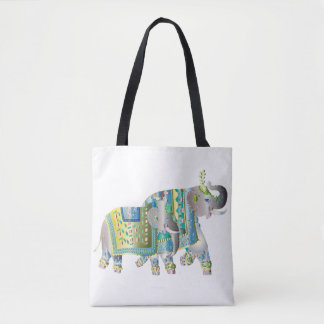 Pair Of Elephants Tote Bag