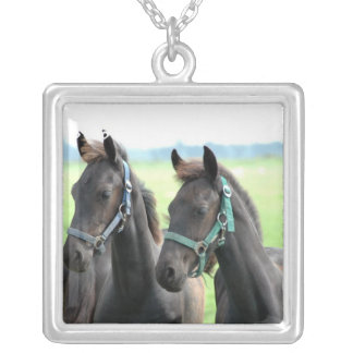 Pair of Friesian Horse Necklaces