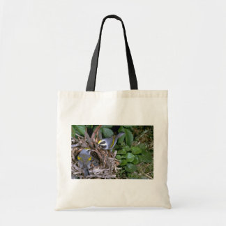 Pair of Golden-winged Warblers with nest Tote Bag