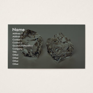 Pair of Ice cubes Business Card