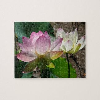 Pair of Lotus Flowers I Puzzles