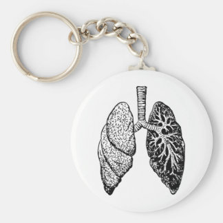 pair of lungs keychain