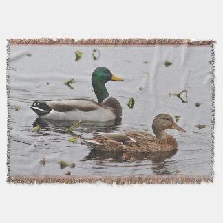 Pair of Mallard Ducks Throw Blanket