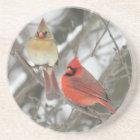 Pair Of Northern Cardinals Coaster
