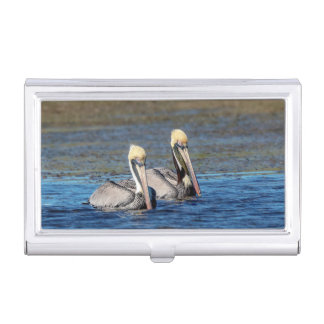 Pair of Pelicans Business Card Holder