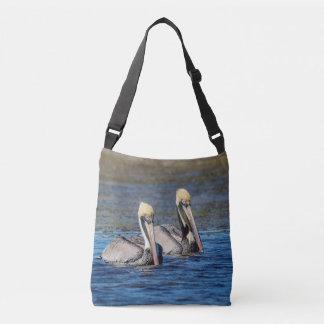 Pair of Pelicans Crossbody Bag