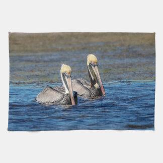 Pair of Pelicans Kitchen Towel