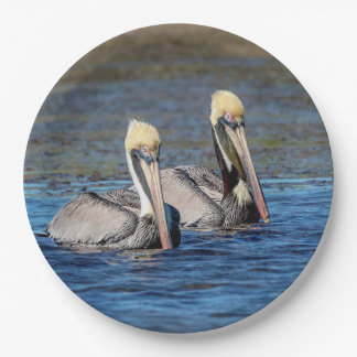 Pair of Pelicans Paper Plate