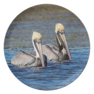 Pair of Pelicans Plate