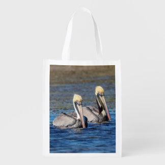Pair of Pelicans Reusable Grocery Bag