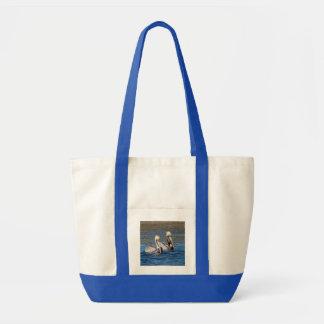 Pair of Pelicans Tote Bag